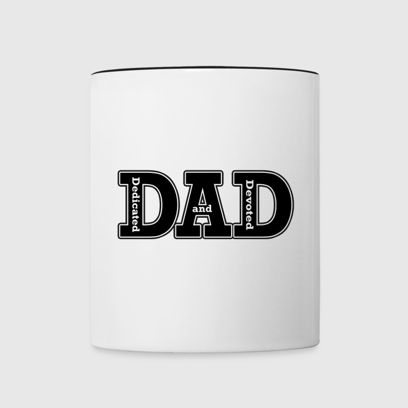 Dedicated and Devoted Dad Bottles & Mugs - Contrast Coffee Mug