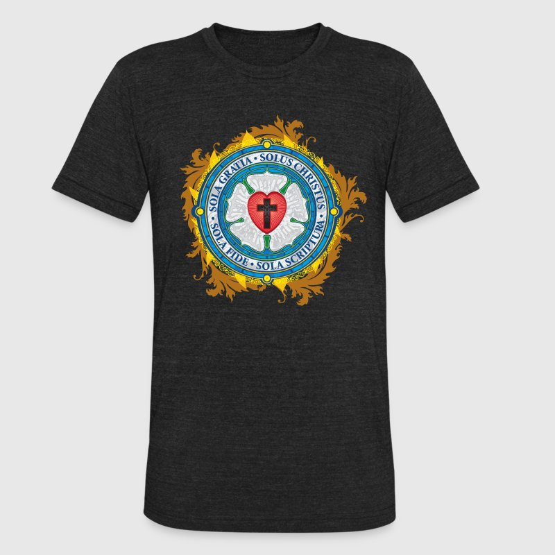 Luther Rose Lutheran Seal - Unisex Tri-Blend T-Shirt by American Apparel