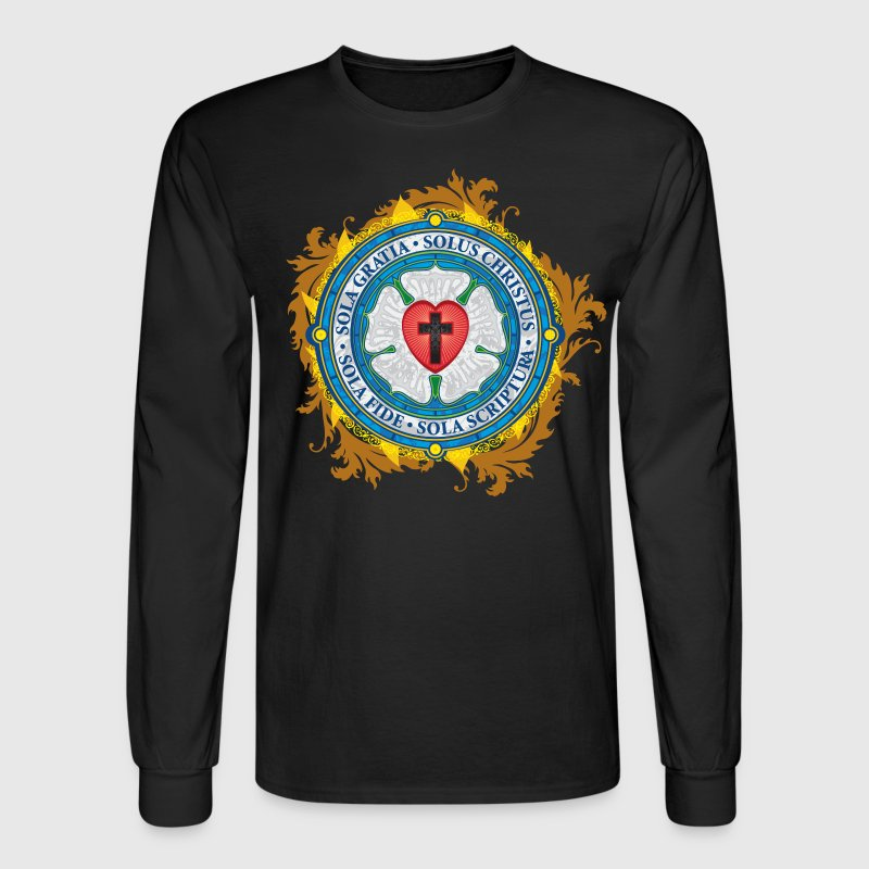 Luther Rose Lutheran Seal - Men's Long Sleeve T-Shirt