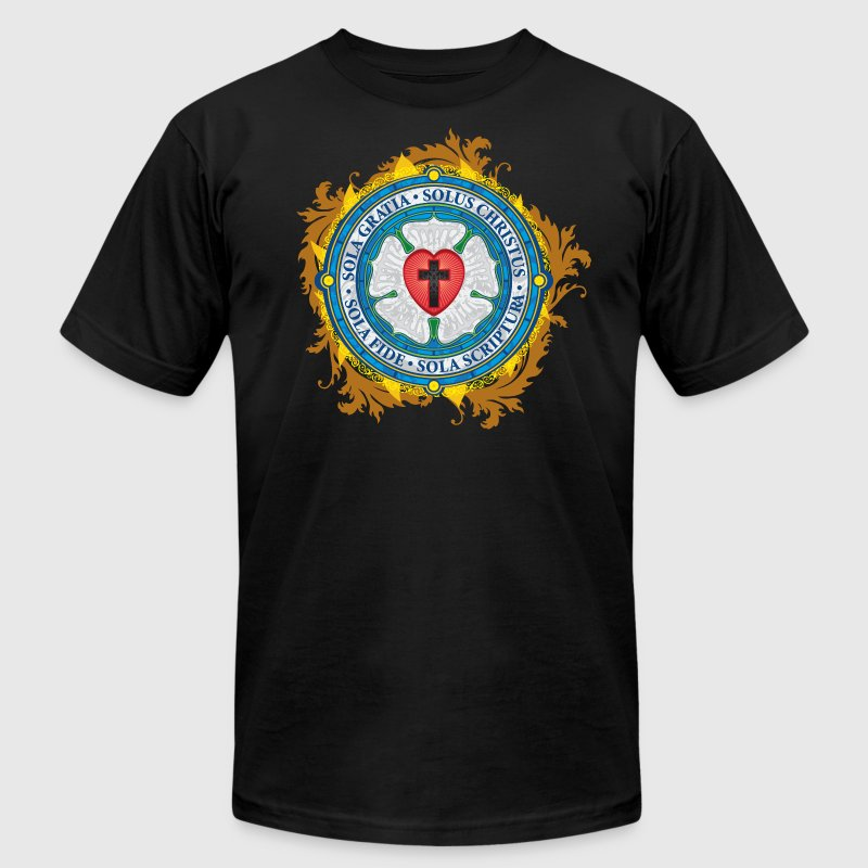 Luther Rose Lutheran Seal - Men's T-Shirt by American Apparel