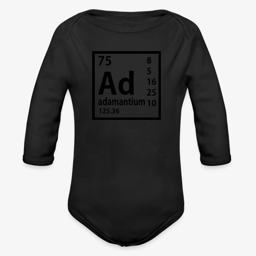 Adamantium - Organic Long Sleeve Baby Bodysuit
