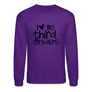 Love My Third Graders | Light Purple - Crewneck Sweatshirt