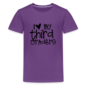 Love My Third Graders | Light Purple - Kids' Premium T-Shirt