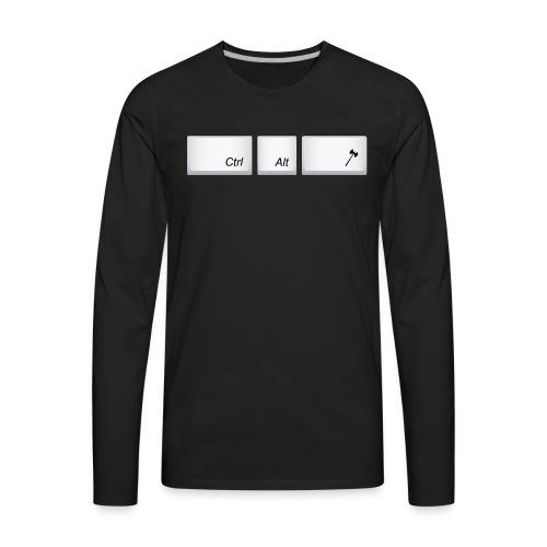 Men's Ctrl Alt Atk _Axe - Men's Premium Long Sleeve T-Shirt