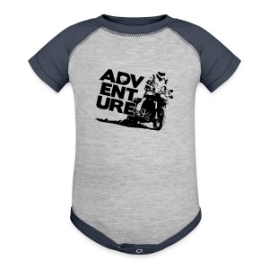 F8 Adventure On - Black Logo - Baby Contrast One Piece