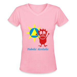 Joplin the Diabolic Alcoholic - Women's V-Neck T-Shirt