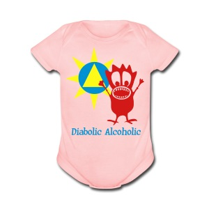 Joplin the Diabolic Alcoholic - Short Sleeve Baby Bodysuit
