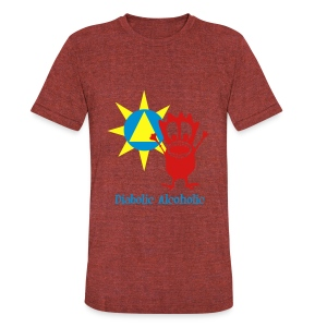 Joplin the Diabolic Alcoholic - Unisex Tri-Blend T-Shirt by American Apparel