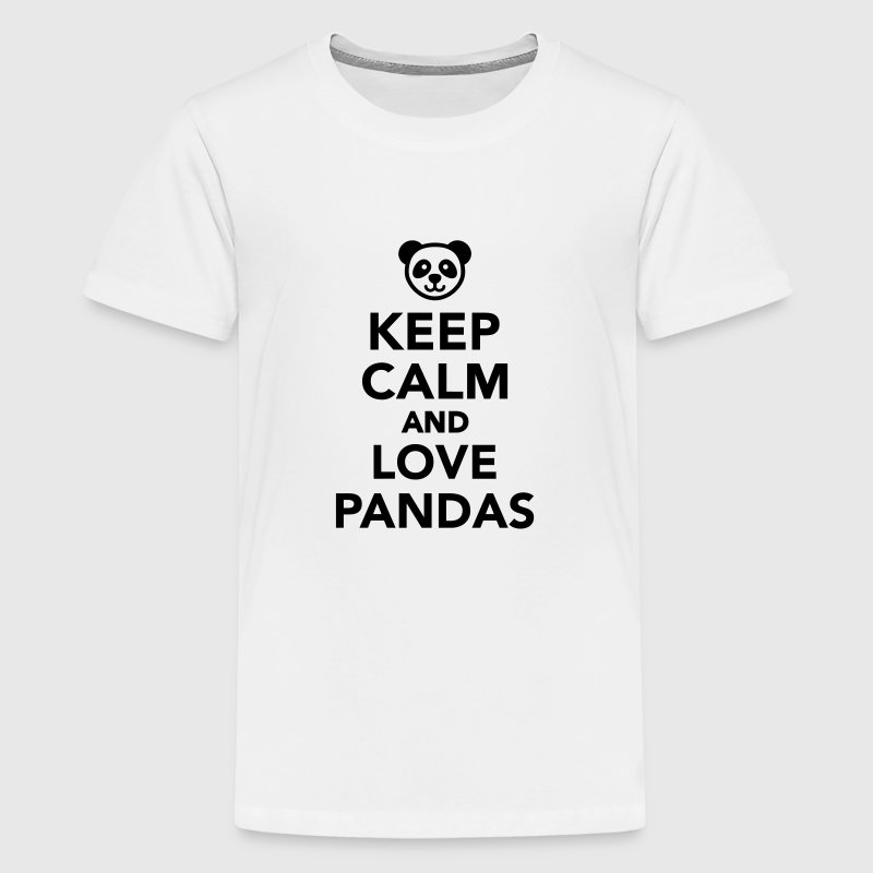 Keep calm and love Pandas Kids' Shirts - Kids' Premium T-Shirt
