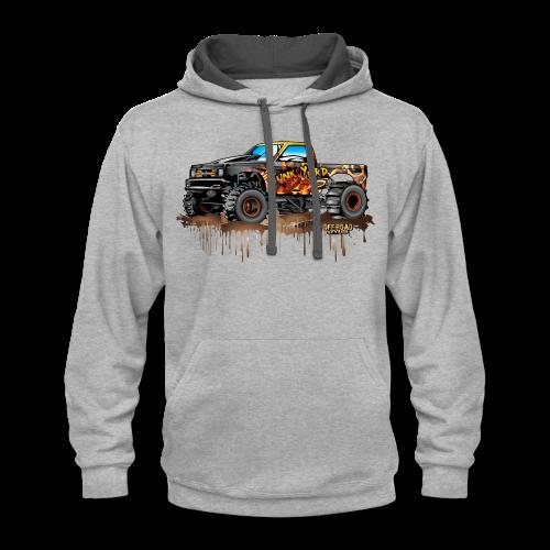 Junk Yard Diva Mud Truck - Contrast Hoodie