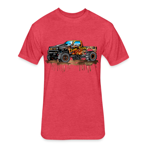 Junk Yard Diva Mud Truck - Fitted Cotton/Poly T-Shirt by Next Level
