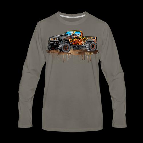 Junk Yard Diva Mud Truck - Men's Premium Long Sleeve T-Shirt