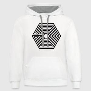 Exo Kpop T-Shirts - Contrast Hoodie