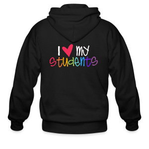 Love My Students - Men's Zip Hoodie