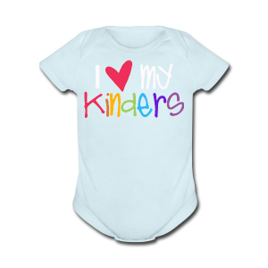Love My Kinders - Short Sleeve Baby Bodysuit