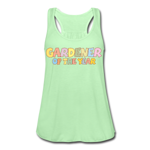 Gardener of the Year T-Shirt (Green/Kids) Colors - Women's Flowy Tank Top by Bella