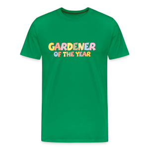 Gardener of the Year T-Shirt (Green/Kids) Colors - Men's Premium T-Shirt