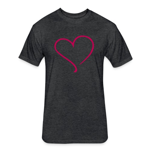 Floating Heart - Fitted Cotton/Poly T-Shirt by Next Level