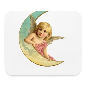 Vintage Moon Angel - Mouse pad Horizontal