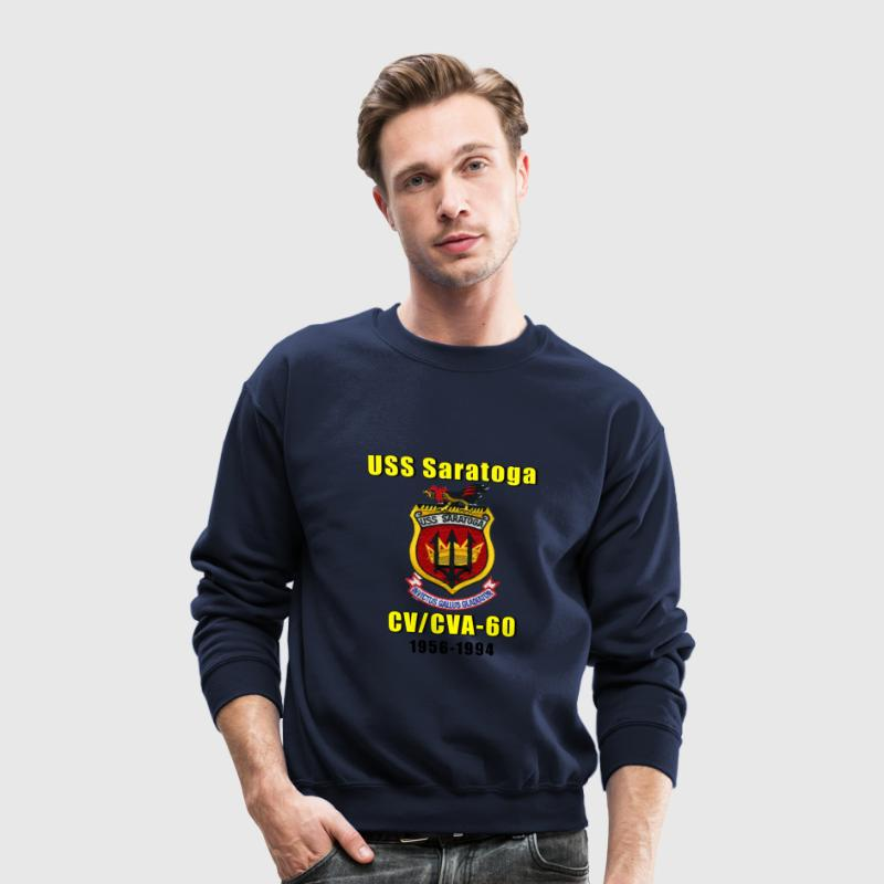 USS Saratoga Tribute Sweat Shirt - Crewneck Sweatshirt