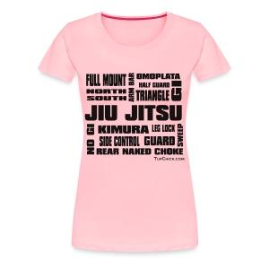 Jiu Jitsu Terminology Women's T-Shirt - Women's Premium T-Shirt