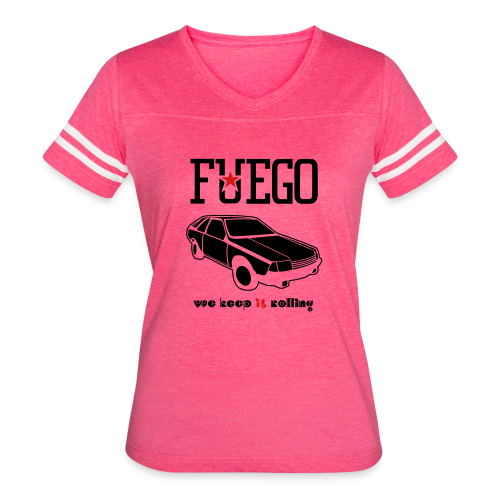Rogue Fuego With (Brown/Yellow) - Women's Vintage Sport T-Shirt