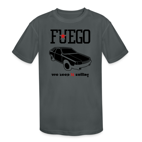 Rogue Fuego With (Brown/Yellow) - Kid's Moisture Wicking Performance T-Shirt