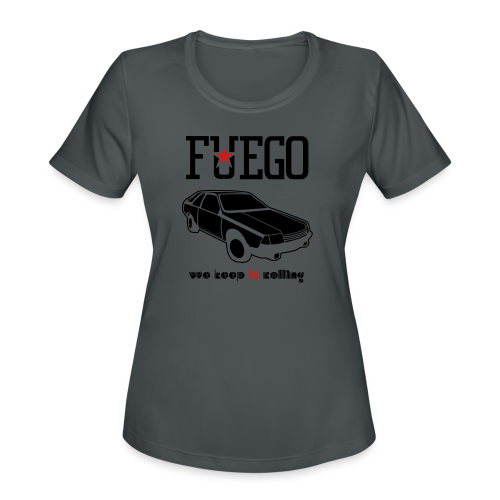 Rogue Fuego With (Brown/Yellow) - Women's Moisture Wicking Performance T-Shirt
