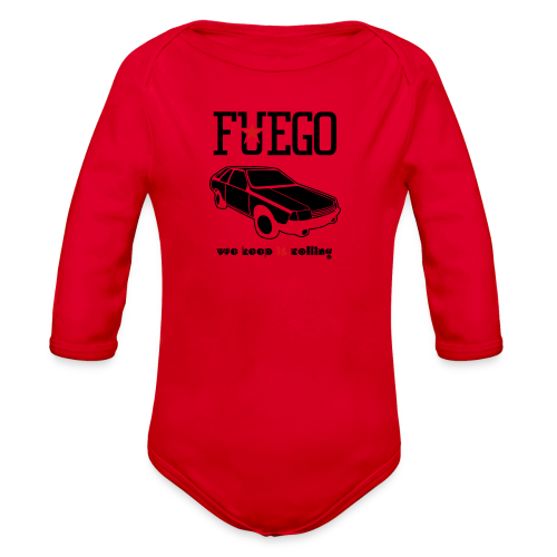 Rogue Fuego With (Brown/Yellow) - Organic Long Sleeve Baby Bodysuit
