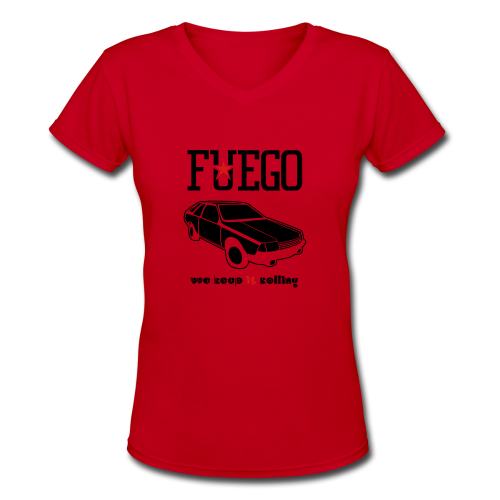 Rogue Fuego With (Brown/Yellow) - Women's V-Neck T-Shirt
