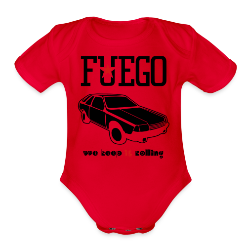 Rogue Fuego With (Brown/Yellow) - Organic Short Sleeve Baby Bodysuit