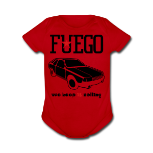 Rogue Fuego With (Brown/Yellow) - Short Sleeve Baby Bodysuit