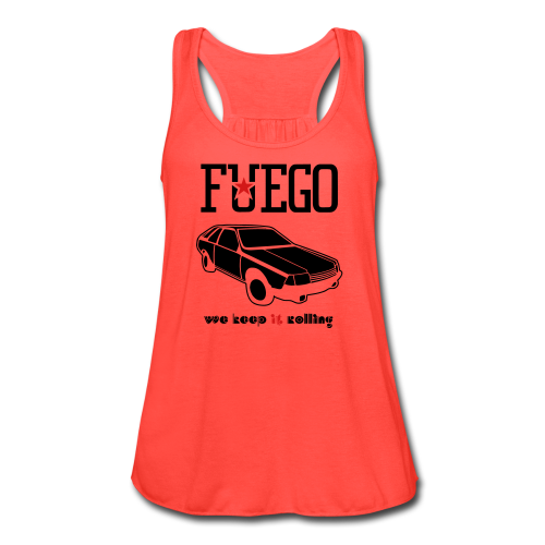 Rogue Fuego With (Brown/Yellow) - Women's Flowy Tank Top by Bella