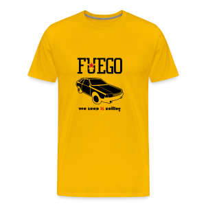Rogue Fuego With (Brown/Yellow) - Men's Premium T-Shirt