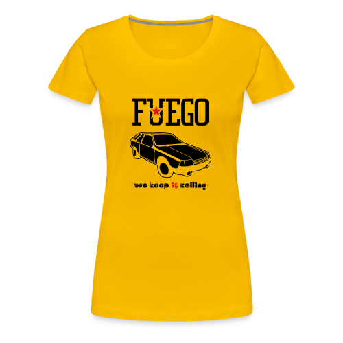 Rogue Fuego With (Brown/Yellow) - Women's Premium T-Shirt