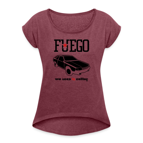 Rogue Fuego With (Brown/Yellow) - Women's Roll Cuff T-Shirt