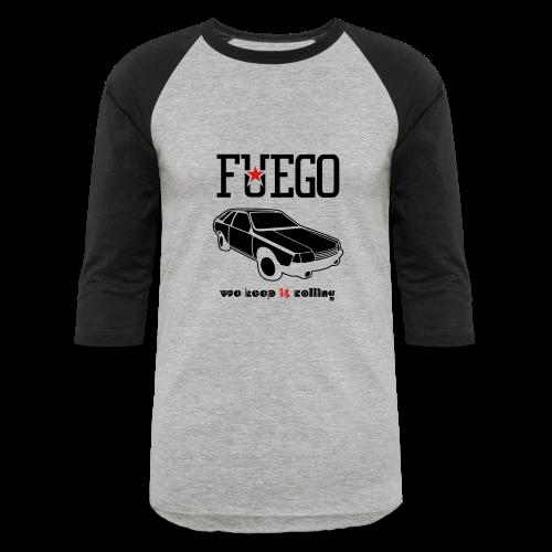 Rogue Fuego With (Brown/Yellow) - Baseball T-Shirt