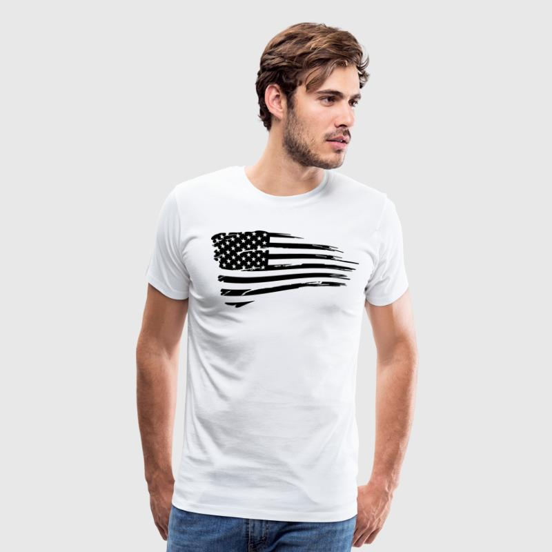 Vintage American Flag Tactical Subdued T-Shirts - Men's Premium T-Shirt