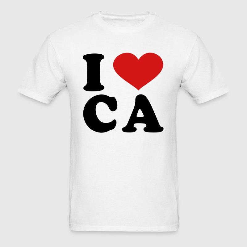 I Love CA T-Shirts - Men's T-Shirt
