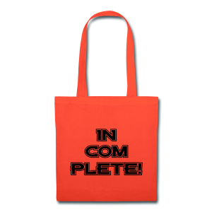 IN-COM-PLETE - Mens - Tote Bag