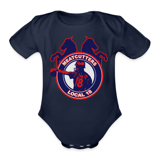Meatcutters Local 18 - Kids - Organic Short Sleeve Baby Bodysuit