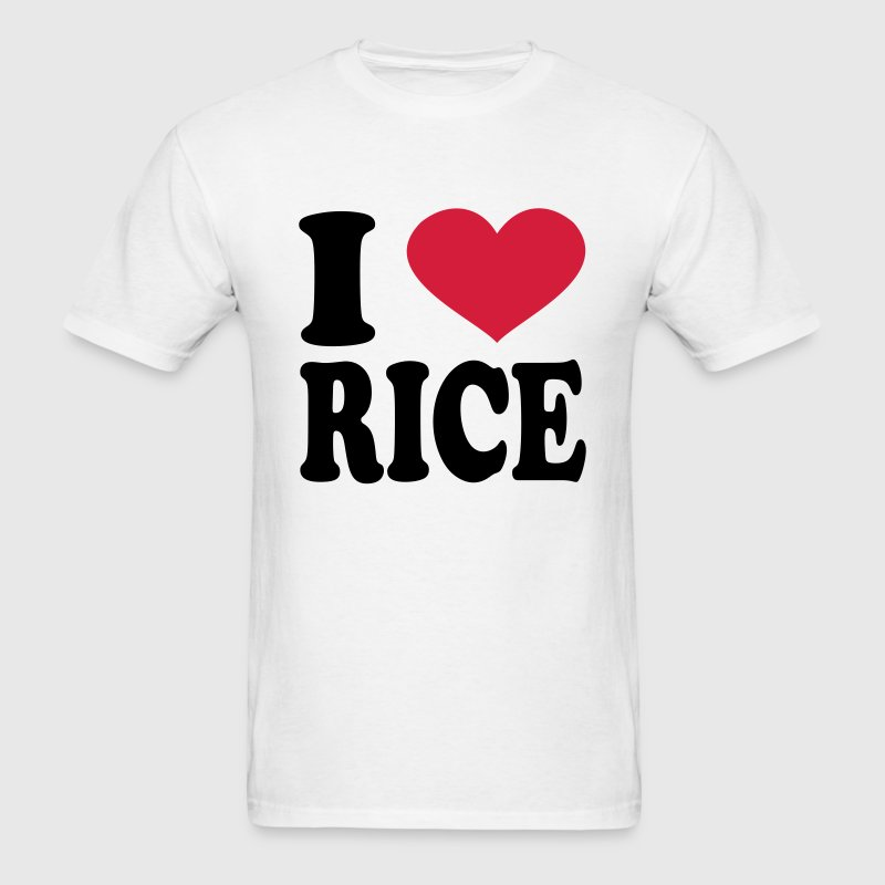 I Love rice T-Shirts - Men's T-Shirt