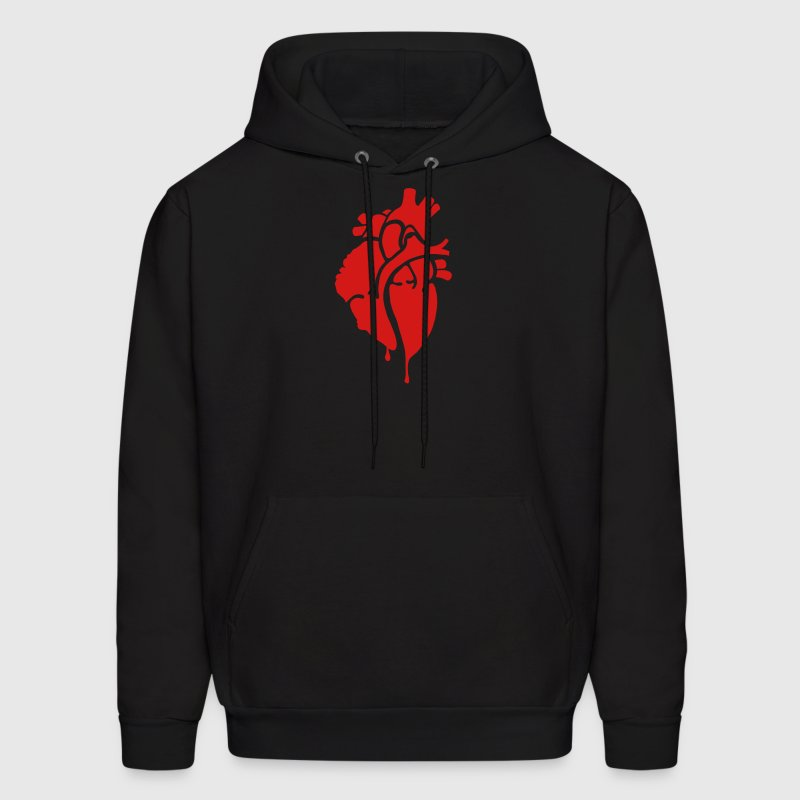 Bloody Heart, Bleeding Heart Hoodies - Men's Hoodie