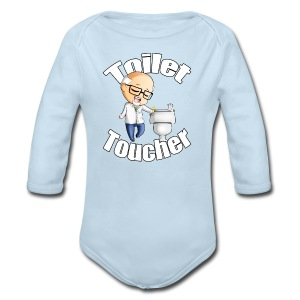 The Toilet Toucher - Long Sleeve Baby Bodysuit