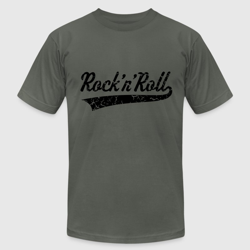 Rock 'n' Roll Vintage T-Shirts - Men's T-Shirt by American Apparel