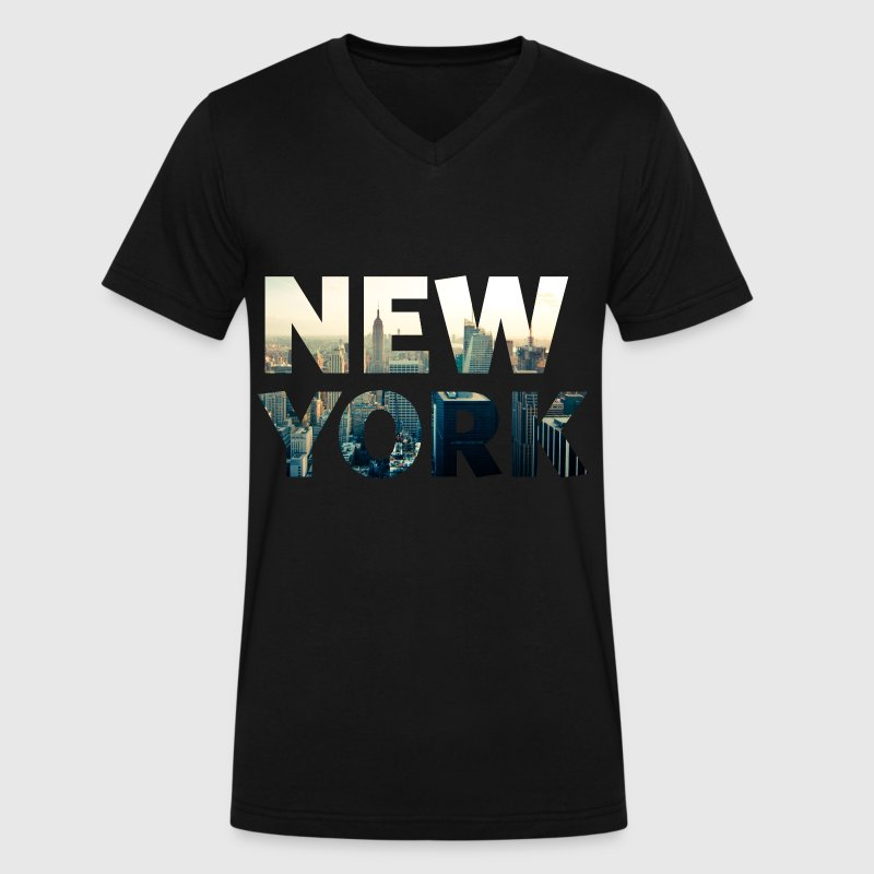 new york city T-Shirts - Men's V-Neck T-Shirt by Canvas