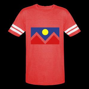 Denver Flag - Bronc - Mens OB - Vintage Sport T-Shirt