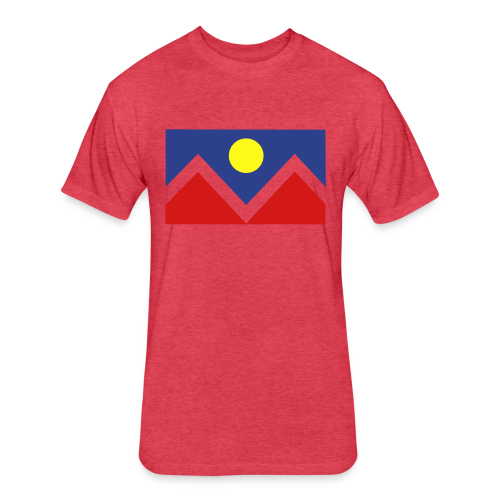 Denver Flag - Bronc - Mens OB - Fitted Cotton/Poly T-Shirt by Next Level