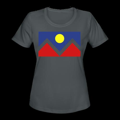Denver Flag - Bronc - Mens OB - Women's Moisture Wicking Performance T-Shirt