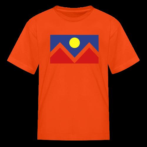 Denver Flag - Bronc - Mens OB - Kids' T-Shirt